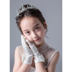 Satin With Bow/Butterfly Wrist Length Glove