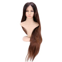 4A Non remy Straight Human Hair Full Lace Cap Wigs