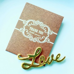 Love Antique Gold Bottle Opener In Brown Thank You Giftbag