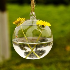 Diameter 12cm Lovely Simple Hanging Glass Vase (Sold in a single piece)