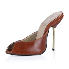 Leatherette Stiletto Heel Sandals Pumps Slingbacks shoes