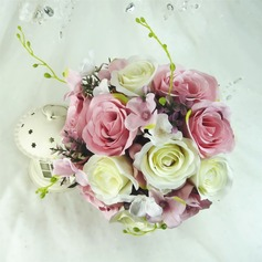 Superb Round Artificial Silk Bridesmaid Bouquets