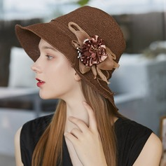 Ladies' Exquisite/Hottest Raffia Straw/Silk Flower With Silk Flower Beach/Sun Hats/Tea Party Hats