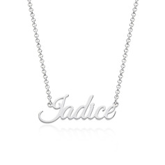 Custom Silver Letter Name Necklace - Birthday Gifts (288250665)