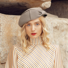 Ladies' Elegant/Fancy Polyester With Bowknot Beret Hats