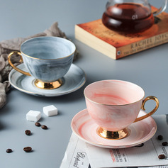 Beautiful Elegant Ceramics Coffee Cup With Saucer