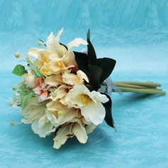 Vivifying Hand-tied Satin Bridesmaid Bouquets