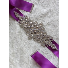 Elegant Ribbon Sash With Rhinestones (015101419)