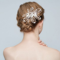 Glamourous Alloy Combs & Barrettes With Rhinestone/Venetian Pearl/Crystal (Sold in single piece)