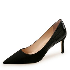 Women's Suede Stiletto Heel Pumps Closed Toe shoes (085192534)