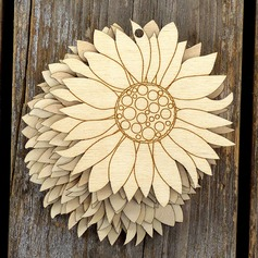 Nice/Flower Design Lovely/Pretty Wooden Wedding Ornaments
