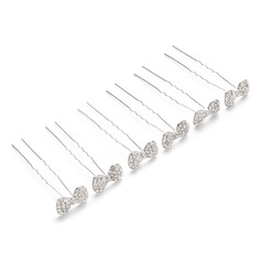 Bowknot Rhinestone/Alloy Hairpins (Set of 6)
