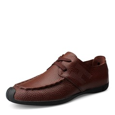 Men's Real Leather Lace-up U-Tip Casual Men's Oxfords