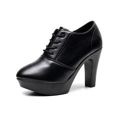Women's Leatherette Heels Ballroom With Lace-up Dance Shoes