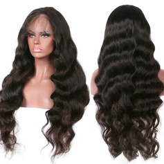 4A Non remy Body Wavy Human Hair Lace Front Wigs 300g