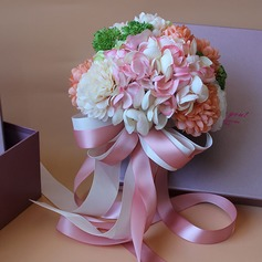 Refined Satin Bridal Bouquets -