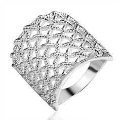 Beautiful Silver Plated Copper Ladies' Fashion Rings