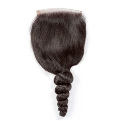 "4""*4"" 4A Non remy Loose Human Hair Closure (Sold in a single piece) 120g"