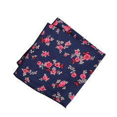 Floral Cotton Pocket Square