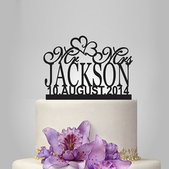 Personalized Heart Acrylic Cake Topper (119118741)