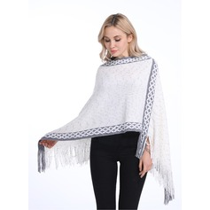 Tassel Oversized/attractive Artificial Wool Poncho