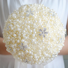 Simple And Elegant Round Imitation Pearl Bridal Bouquets - Bridal Bouquets