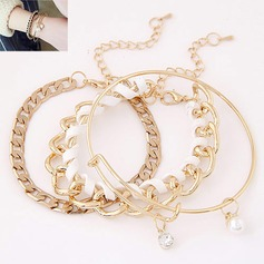 Beautiful Alloy With Imitation Pearl Ladies' Fashion Bracelets