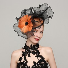 Ladies' Beautiful Cambric/Feather With Feather Fascinators (196154304)