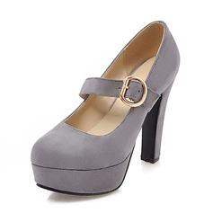 De mujer Ante Tacón stilettos Salón Plataforma Cerrados con Hebilla zapatos