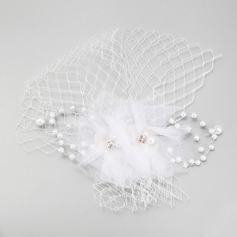 Vintage Imitation Pearls/Tulle Fascinators With Rhinestone