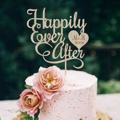 Personalized Happily Ever After Wood Cake Topper
