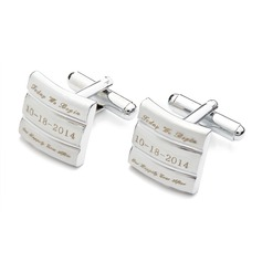 Personalized Cute Couple Stainless Steel Cufflinks (2 Pieces)