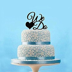 Letter We Do Acrylic Wedding Cake Topper