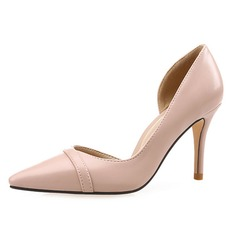 Women's Leatherette Stiletto Heel Pumps Closed Toe shoes
