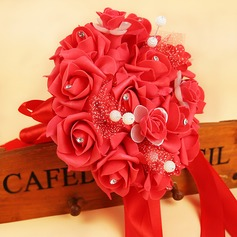 Classic/Charming Round Foam/Ribbon Bridal Bouquets/Bridesmaid Bouquets -