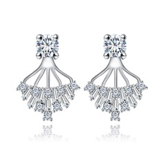 Charming Copper/Zircon/Platinum Plated Women's/Ladies' Earrings
