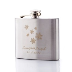 Personalized Snowflake Stainless Steel 140ml(5-oz)