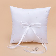 Ring Pillow With Ribbons/Rhinestones