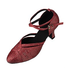 Sparkling Glitter Heels Sandals Ballroom Dance Shoes