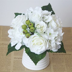 Classic Artificial Silk Bridal Bouquets/Bridesmaid Bouquets/Wedding Table Flowers -