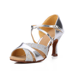 Women's Leatherette Sparkling Glitter Sandals Latin Dance Shoes