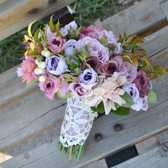 Delicate Hand-tied Artificial Silk Bridal Bouquets - (123105303)