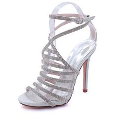 Dla kobiet Satyna Jedwabna Obcas Stiletto Platforma Czólenka Sandały Z Pozostałe