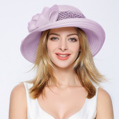 Ladies' Classic Organza With Bowknot Bowler/Cloche Hat/Beach/Sun Hats