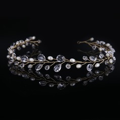 Ladies Glamourous Imitation Pearls/Acrylic Headbands