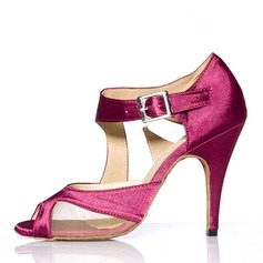 Women's Heels Sandals Latin With Ankle Strap Dance Shoes