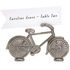 Bicycle Shaped Zinc Alloy Place Card Holders