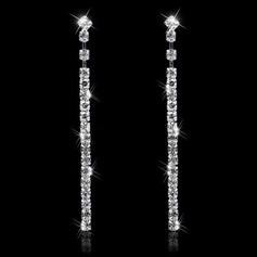 Ladies' Shining Alloy/Rhinestones Earrings