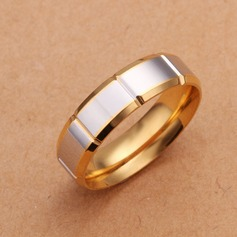 Simple Silver Plated Men's Rings