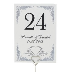 Personalized Gorgeous Pearl Paper Table Number Cards